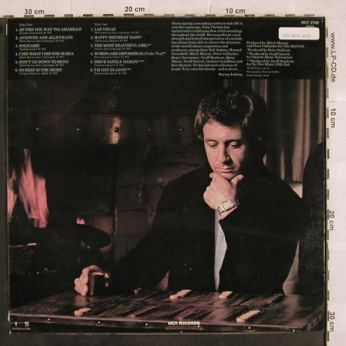 Christie,Tony: Best Of, MCA(MCF 2769), UK,  - LP - X566 - 5,00 Euro