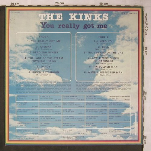 Kinks: You Really Got Me, Mode(MD.9017), F, Ri,  - LP - X5704 - 7,50 Euro