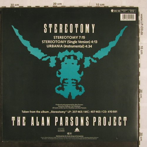 Parsons Project,Alan: Stereotomy*2 / Urbania (Instr.), Arista(602 140-213), D, 1986 - 12inch - X571 - 4,00 Euro