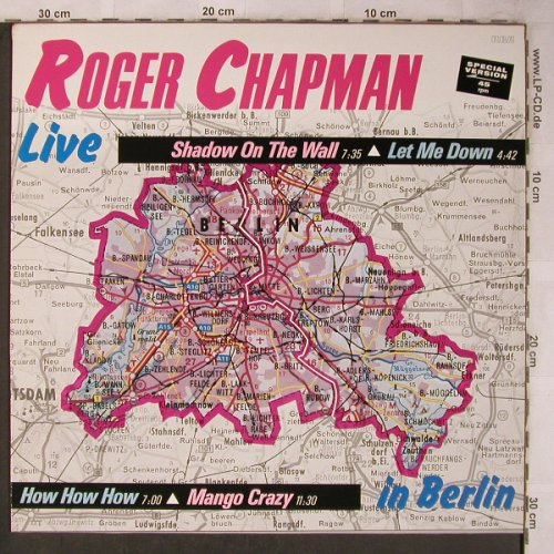 Chapman,Roger: Shadow On The Wall +3,Live Berlin, RCA(PT 40082 AF), D, 1985 - 12inch - X5732 - 7,50 Euro