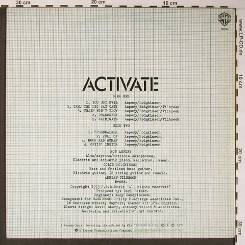 Backdoor: Activate, WEA(WB 56243), UK, 1976 - LP - X5968 - 17,50 Euro