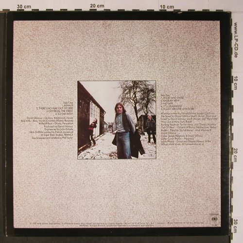Gilmour,David: Same, Foc, Columbia(BL 35 388), US, 1978 - LP - X6180 - 9,00 Euro