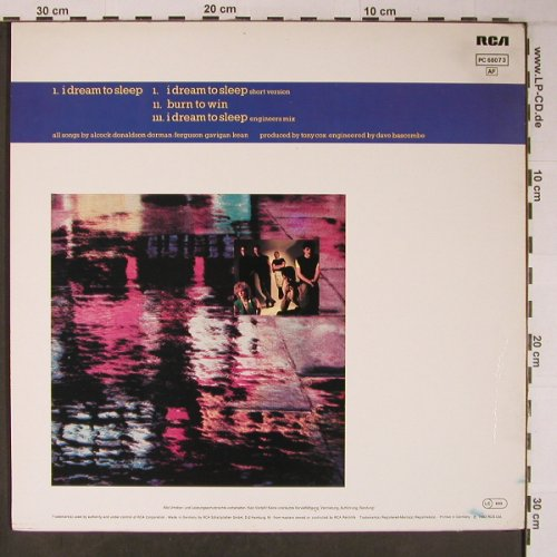 H2O: I dream to sleep  *2+1, RCA(PC 68073), D, 1983 - 12inch - X6314 - 3,50 Euro