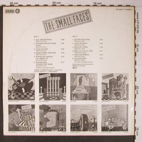 Small Faces: Same, Bellaphon/Charly(CR 3024), D, Ri,  - LP - X6488 - 11,50 Euro
