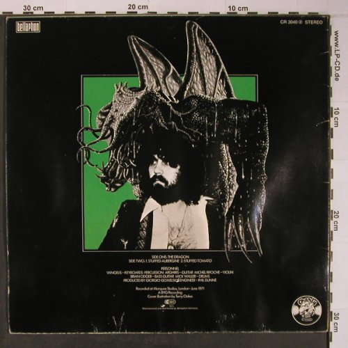 Vangelis: The Dragon, vg+/vg+,Cover~~~, Charly(CR3040), D, 1971 - LP - X6493 - 12,50 Euro