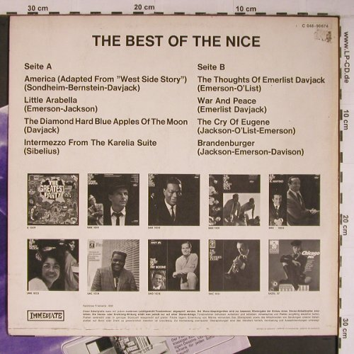 Nice: The Best Of, m-/vg+, Immediate(C 048-90674), D,  - LP - X6800 - 9,00 Euro