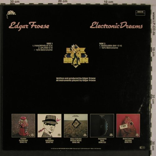Froese,Edgar: Electronic Dreams(1975)-Mousecover, Brain(0040.148), D, Ri, 1979 - LP - X6917 - 40,00 Euro