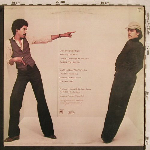 Bell & James: Same, AM(AMLH 64728), NL, 1978 - LP - X777 - 9,00 Euro