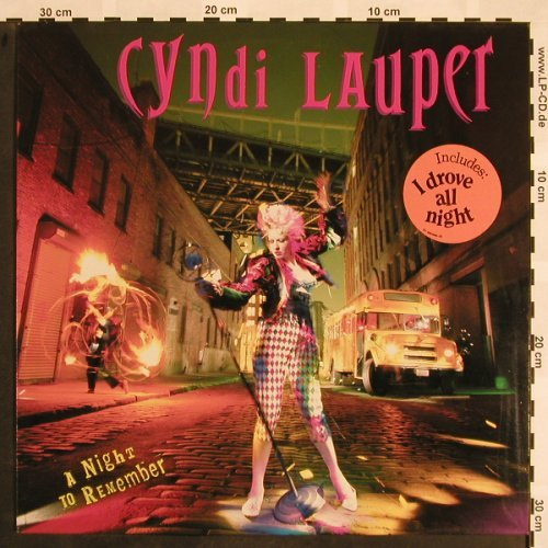 Lauper,Cyndi: A Night To Remember, Epic(462499 1), NL, 1989 - LP - X785 - 5,50 Euro