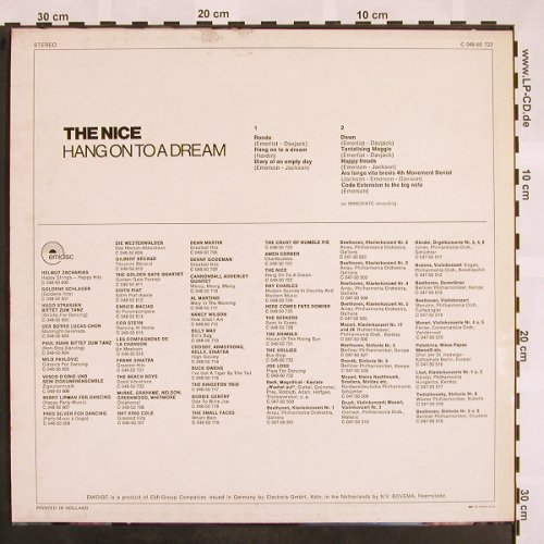 Nice: Hang on to a Dream, m-/vg+, Emidisc(C 048-50 722), D/NL,  - LP - X798 - 5,00 Euro