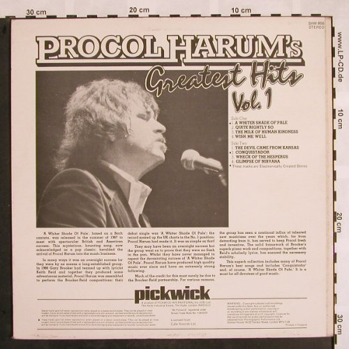 Procol Harum: Greatest Hits Vol.1, Pickwick(SHM 956), UK, 1980 - LP - X930 - 5,00 Euro