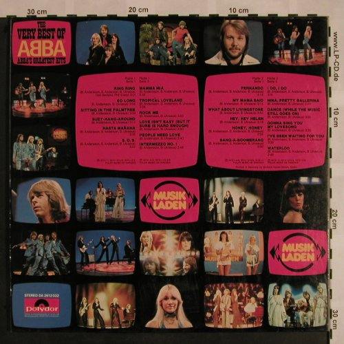 Abba: The Very Best Of-Greatest Hits,Foc, Polydor(2612 032), D,m-/vg+,  - 2LP - X995 - 6,00 Euro