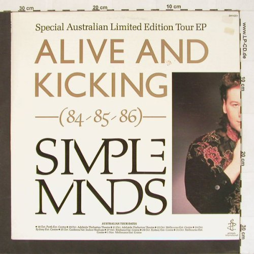 Simple Minds: Alive & Kicking(84-85-86),5 Tr.,Lim, Virgin(), AUS, 85 - 12inch - A303 - 7,50 Euro