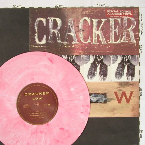 Cracker: Low+3,Pink Vinyl, Virgin(), UK, 94 - 10inch - A3758 - 7,50 Euro