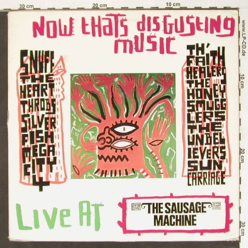 V.A.Now Thats Disgusting Music: Live at the Sausage Machine, m-/vg+, Too Pure(pure 1), , 90 - LP - B8402 - 4,00 Euro