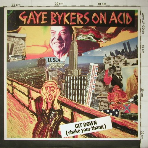 Gaye Bikers On Acid: Git Down +2, Virgin(609 521-213), D, 87 - 12inch - C5152 - 2,50 Euro