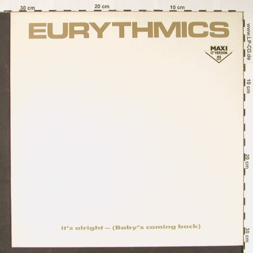 Eurythmics: It's Alright+2, RCA(PT 40376), D, 1985 - 12inch - C8570 - 2,50 Euro