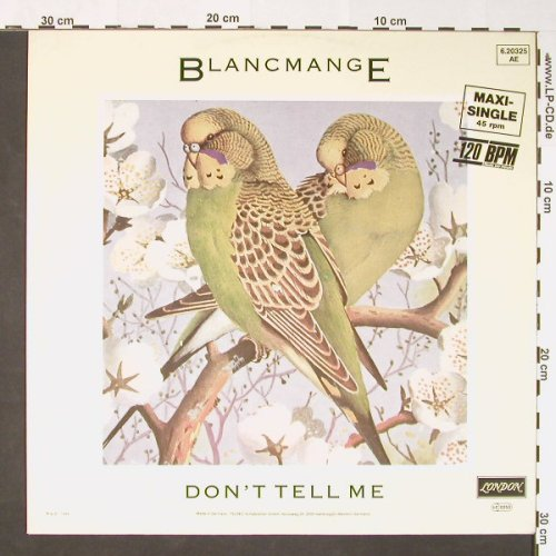 Blancmange: Don't Tell Me+1, London(6.20325), D, 1984 - 12inch - C8798 - 2,50 Euro