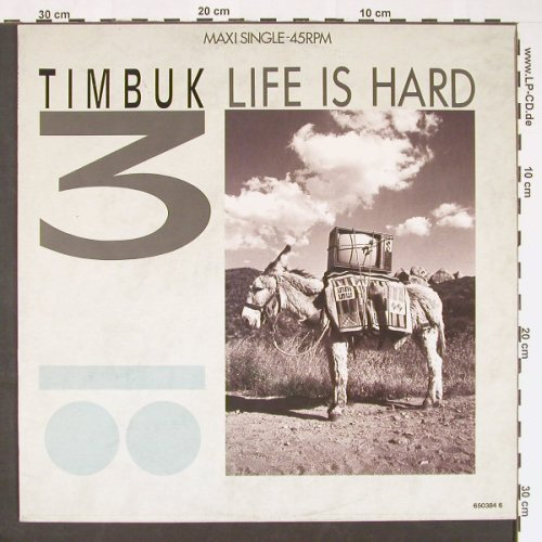 Timbuk 3: Life Is Hard/Shame on You/+1, IRS(ILS 650384 6), NL, 1986 - 12inch - C9058 - 3,00 Euro