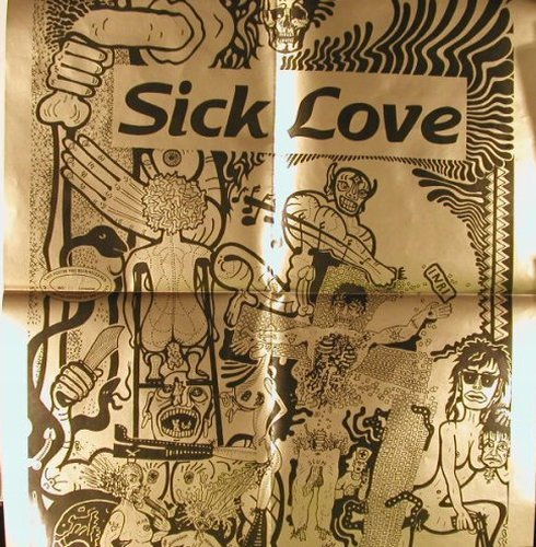 Johnny Conscious: Sick Love,blueVinyl,LimEd.500copies, Sick Love(951606), D,Poster, 1995 - LP - E2300 - 12,50 Euro