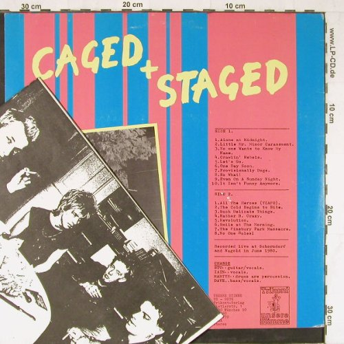 Charge: Caged & Staged-Live In Germany, Trikont(US-0076), D, 1980 - LP - E3444 - 7,50 Euro