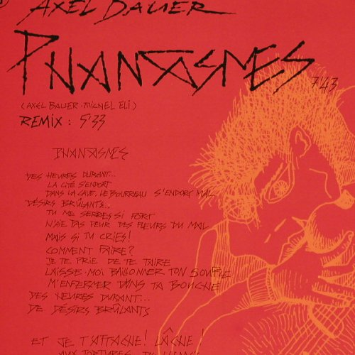 Bauer,Axel: Phantasmes(1+remix), Vogue(311120), , 1984 - 12inch - E347 - 3,00 Euro