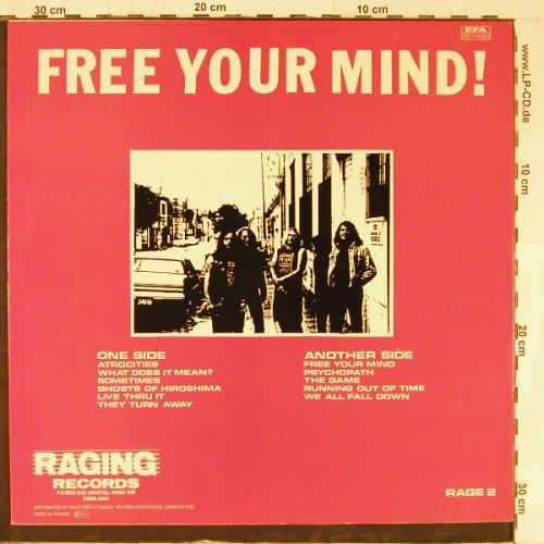 Subvert: Free Your Mind, vg+/m-, Raging Rec(Rage 2), F,  - LP - E3981 - 6,00 Euro