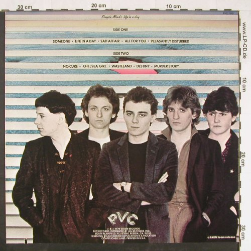 Simple Minds: Life In A Day,Co, PVC(PVC 7910), US, 1979 - LP - E399 - 4,00 Euro