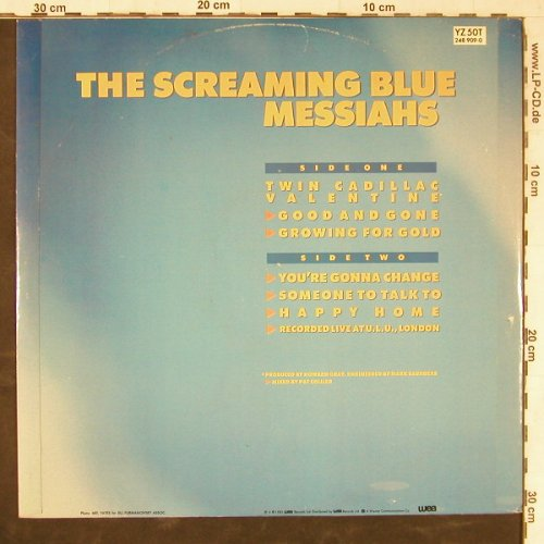 Screaming Blue Messias: Twin Cadillac Valentine+5, vg+/m-, WEA(YZ 50T), UK, 1985 - 12inch - E5113 - 1,50 Euro