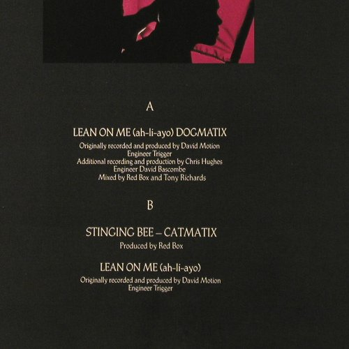 Red Box: Lean on me(dogmatix)+2, Sire(920 344-0), D, 1985 - 12inch - E6390 - 4,00 Euro