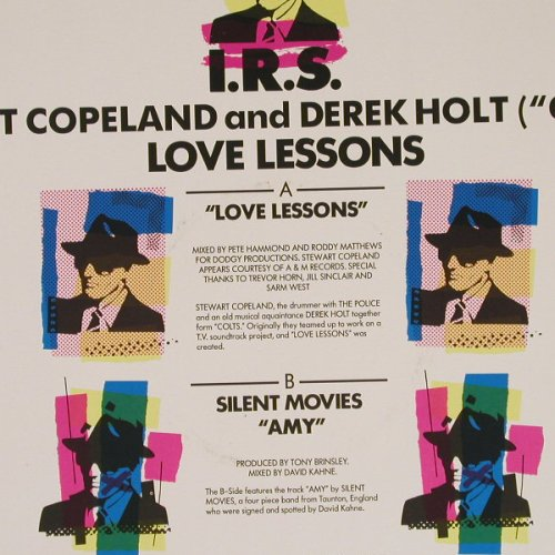 Copeland,Stewart & Derek Holt: Love Lessons*2+/Silent Movie AMY, IRS(IRMT 120), UK, 1986 - 12inch - E678 - 2,50 Euro