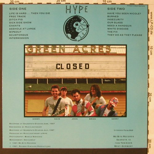 Hype: Burned, We Bite(026), D, 1987 - LP - E9341 - 10,00 Euro