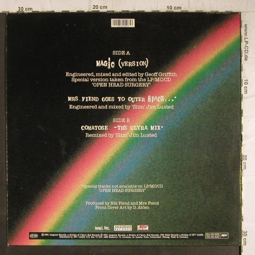 Alien Sex Fiend: Magic/Comatose(Mix)+1, Anagram(050-45265), D, 1992 - 12inch - F8770 - 5,00 Euro