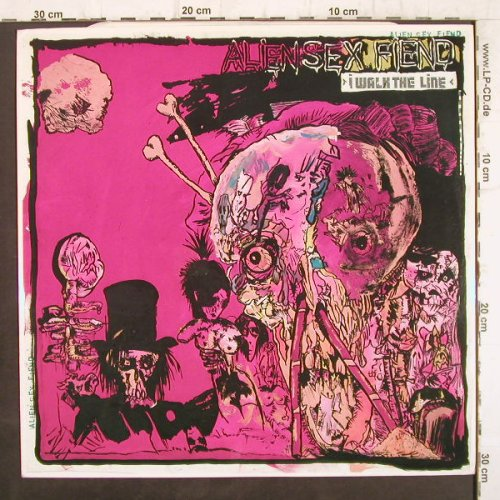Alien Sex Fiend: I Walk The Line, Schools Out +2, Flicknife(FLEP 106), UK, 1986 - 12inch - F8833 - 5,00 Euro