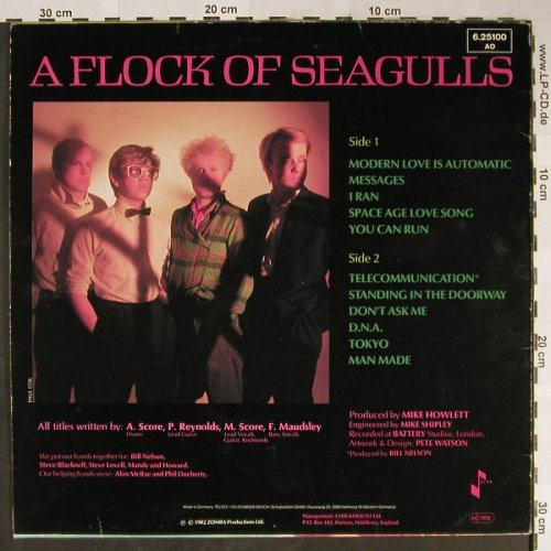 A Flock Of Seagulls: Same, Jive(6.25100 AO), D, 1982 - LP - H2281 - 5,50 Euro