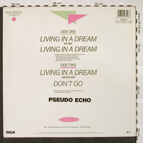 Pseudo Echo: Living In A Dream*3/Don't go, RCA(PT 49754), D, 1987 - 12inch - H4180 - 2,50 Euro