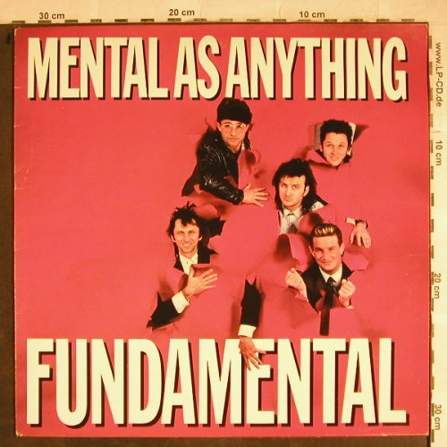 Mental As Anything: Fundamental, Epic(EPC 26 836), NL, 1985 - LP - H8617 - 5,00 Euro