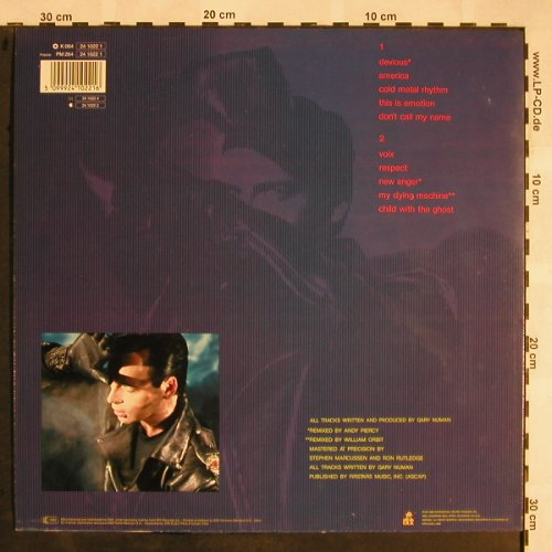 Numan,Gary: New Anger, IRS(24 1022 1), EEC, 1989 - LP - X1192 - 6,50 Euro