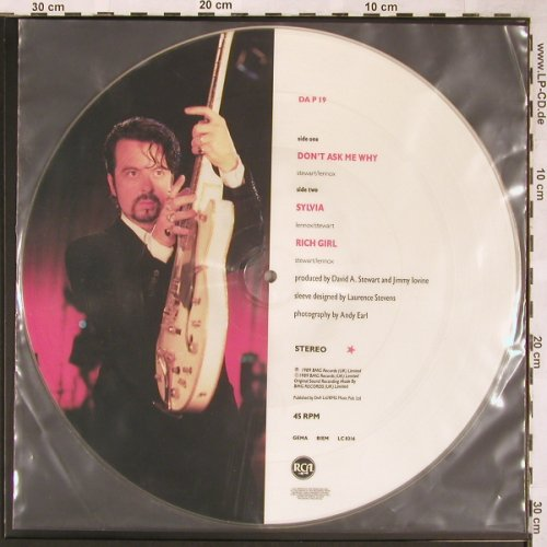 "Eurythmics: Don't Ask Me Why+2 Picture, BMG(DA P 19), UK, 1989 - P12"" - X1621 - 9,00 Euro"