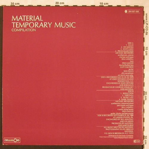 Material: Temporary Music Compilation,Laswell, Celluloid(204 527-320), D, 1982 - LP - X1788 - 14,00 Euro