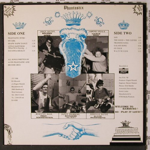 Phantastix: Welcome (HH-Punk), KO Rec.(KO-0189), D, 1988 - LP - X2964 - 10,00 Euro
