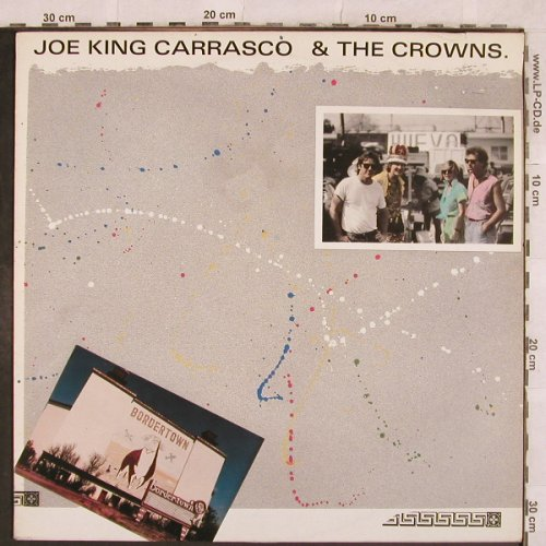 Carrasco,Joe'King' & Crowns: Bordertown, m-/vg+, New Rose(ROSE 40), F, 1984 - LP - X308 - 5,00 Euro