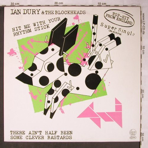 Dury,Ian & Blockheads: Hit Me With Your Rhythm Stick+1, Stiff(6.20009 AE), D, 1979 - 12inch - X5491 - 5,00 Euro