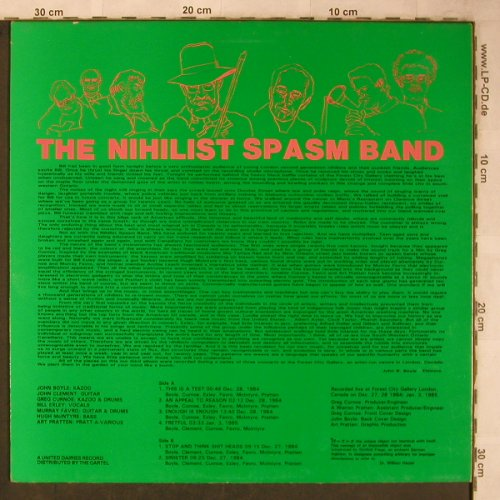 "Nihilist Spasm Band: ¬x~x=x, United Dairies(UD 016), UK, 1985 - 12""*2 - X5745 - 25,00 Euro"
