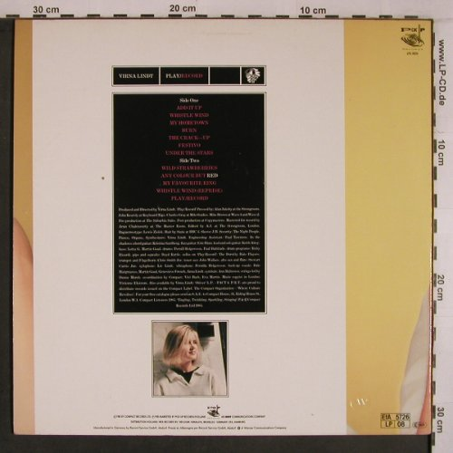 Lindt,Virna: Play / Record, Pick Up(LPU 0026), D, 1985 - LP - X6894 - 12,50 Euro
