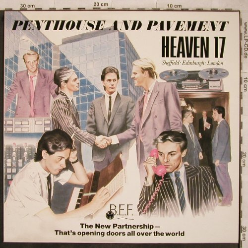 Heaven 17: Penthouse and Pavement, BEF(204 017-320), D, 1981 - LP - X754 - 5,50 Euro