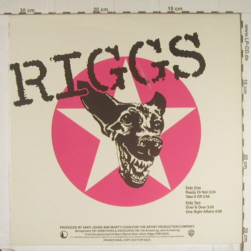 Riggs: Ready Or Not +3, 33 Rpm Promo, WB(PRO-A-1010), US, 82 - 12inch - B761 - 10,00 Euro