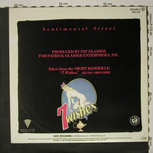 Night Ranger: Sentimental Street*2, MCA(259 046-0), D, 1985 - 12inch - C8428 - 2,50 Euro