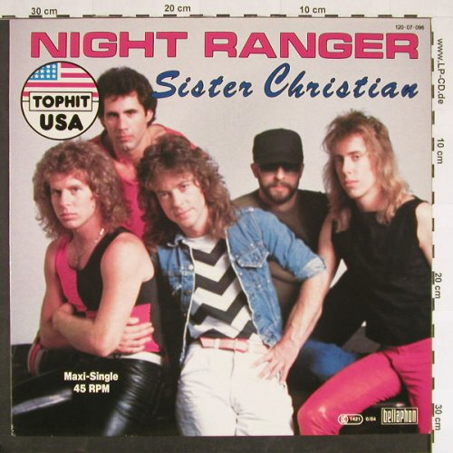 Night Ranger: Sister Christian+1, Bellaph.(120 07 096), D, 1984 - 12inch - C9372 - 2,50 Euro