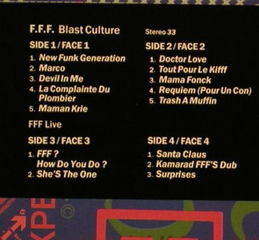 F.F.F.: Blast Culture,Foc +Live 4 Tr., Epic,Lim.Ed.1500 copies(468700-1), NL, 1991 - 2LP - F7659 - 9,00 Euro